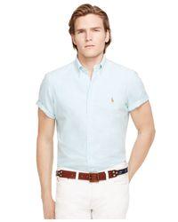 Polo Ralph Lauren   Blue Oxford Shirt for Men   Lyst