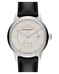 Burberry | Black Textured Dial Watch | Lyst