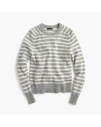 J.Crew | Gray Holly Sweater In Stripe | Lyst