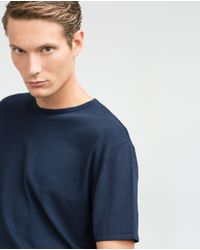 Zara | Blue Viscose Sweater for Men | Lyst