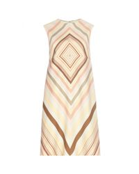 Valentino - Multicolor Wool And Silk Shift Dress - Lyst