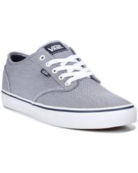 Vans - Blue Men's Atwood Textile Sneakers for Men - Lyst