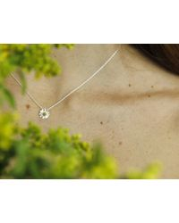 Astrid & Miyu | Metallic My Daisy Necklace | Lyst