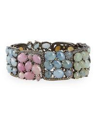 Bavna - Bangle Bracelet With Multicolor Sapphires & Diamonds - Lyst