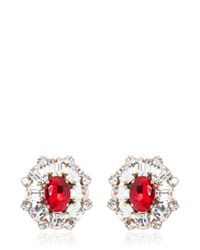 DSquared² - Red Crystal Earrings - Lyst