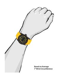 Swiss Legend - Commander Ii Yellow Silicone Black Dial Black Bezel Yellow Accents for Men - Lyst