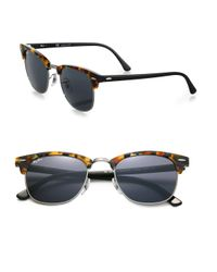 Ray-Ban | Blue Iconic Clubmaster Sunglasses | Lyst