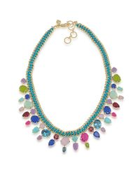 Carolee | Blue Fruit Punch Frontal Charm Necklace | Lyst