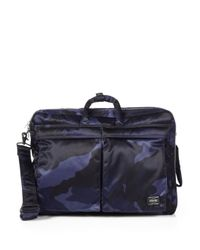 Porter | Blue Three-Way Camo Briefcase for Men | Lyst
