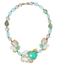 Alexis Bittar | Blue Single Strand Beaded Necklace | Lyst