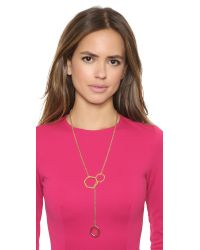Tory Burch | Metallic Leather Woven Chain Necklace Goldgolden | Lyst