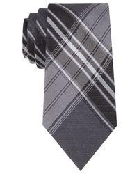 Calvin Klein | Black Jumbo Schoolboy Plaid Slim Tie for Men | Lyst