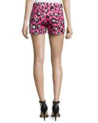 Michael Kors | Multicolor Leopard-print Duchesse Shorts | Lyst