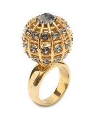 Alexander McQueen - Metallic Jewelled Sphere Ring - Lyst