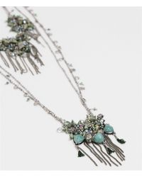 Zara | Metallic Long Multi Double-chain Necklace | Lyst