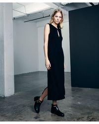 Lanston | Black Split Drop Shoulder Dress | Lyst