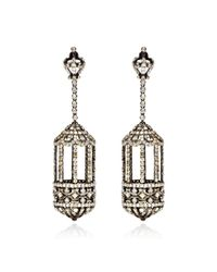 Bochic | Metallic Diamond Birdcage Earrings | Lyst