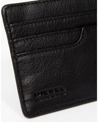 DIESEL - Black Johnas Leather Card Holder for Men - Lyst