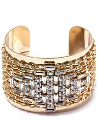 DANNIJO | Metallic Gold-plated Simone Crystal Cuff | Lyst