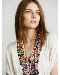 Free People - Multicolor Jen S Pirate Booty Womens Embroidered Maxi Kaftan - Lyst