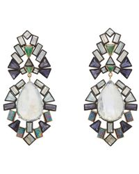 Nak Armstrong | Metallic Double-drop Earrings | Lyst
