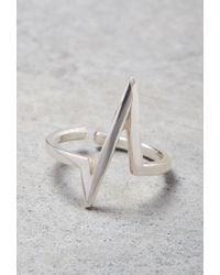 Forever 21 - Metallic Makko Power Spike Midi Ring - Lyst