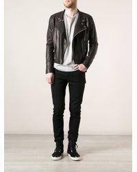Sly010 - Black Classic Biker Jacket for Men - Lyst