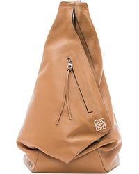 Loewe | Brown Anton Leather Backpack - For Women | Lyst