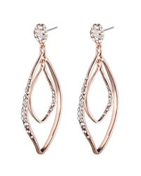 Alexis Bittar | Pink Rose Gold Linear Orbiting Post Earring | Lyst