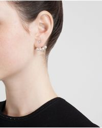 Yvonne Léon - Gray 18k Gold Four Pearl Lobe Earring - Lyst