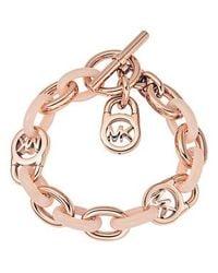 Michael Kors | Pink Mkj4328791 Ladies Charm Bracelet | Lyst