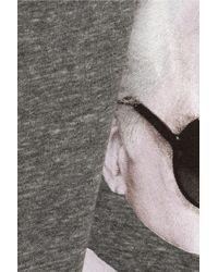 Brian Lichtenberg - Gray Lagerbones Printed Cotton Tank - Lyst