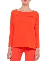 Akris - Orange Knit Cashmere Drop-shoulder Sweater - Lyst