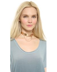 Eddie Borgo - Metallic Safety Chain Choker - Rose Gold - Lyst