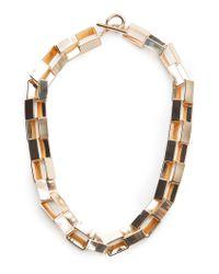 Mango - Metallic Square Hoop Earrings - Lyst