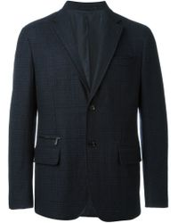 Ermenegildo Zegna - Blue Checked Blazer for Men - Lyst
