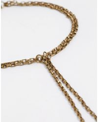 Pieces | Metallic Naomi Gold Foot Chain | Lyst