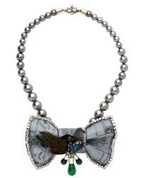 Bijoux De Famille - Gray Mr Pigeon Bow Necklace - Lyst