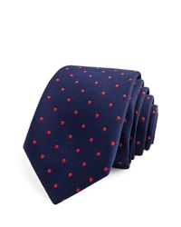 Thomas Pink - Blue Sullivan Spot Skinny Tie for Men - Lyst