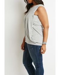 Forever 21 | Gray Plus Size Draped Overlay Top | Lyst