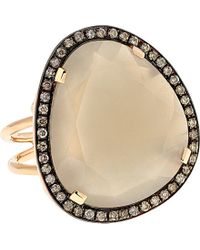 Christina Debs | Hard Candy 18ct Pink-gold And Diamond Ring | Lyst