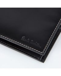 Paul Smith - Men's Black Leather 'naked Lady' Print Interior Billfold And Coin Wallet for Men - Lyst