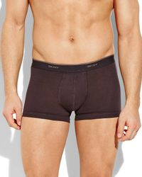 DKNY | Black 3-Pack Classic Hip Trunks for Men | Lyst
