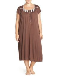 Eileen West | Brown 'sea Drift' Nightgown | Lyst