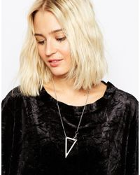 Cheap Monday | Metallic Geo Necklace | Lyst