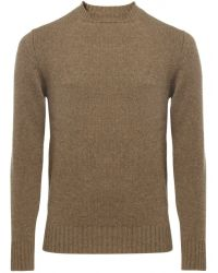 Jules B - Brown Lambswool Crew Neck Sweater for Men - Lyst