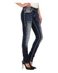 Rock Revival - Blue Jen S400 Embellished Pocket Skinny Jean - Lyst