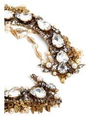Aerin - Metallic Crystal Mebellished Multi-strand Necklace - Lyst
