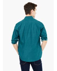 Mango - Green Slim-fit Cotton Oxford Shirt for Men - Lyst