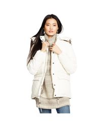 Denim & Supply Ralph Lauren | Natural Detachable-hood Down Jacket | Lyst